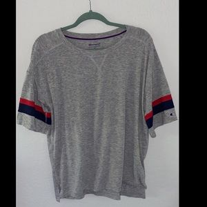 Champion Red, Blue, and Grey Shirt!